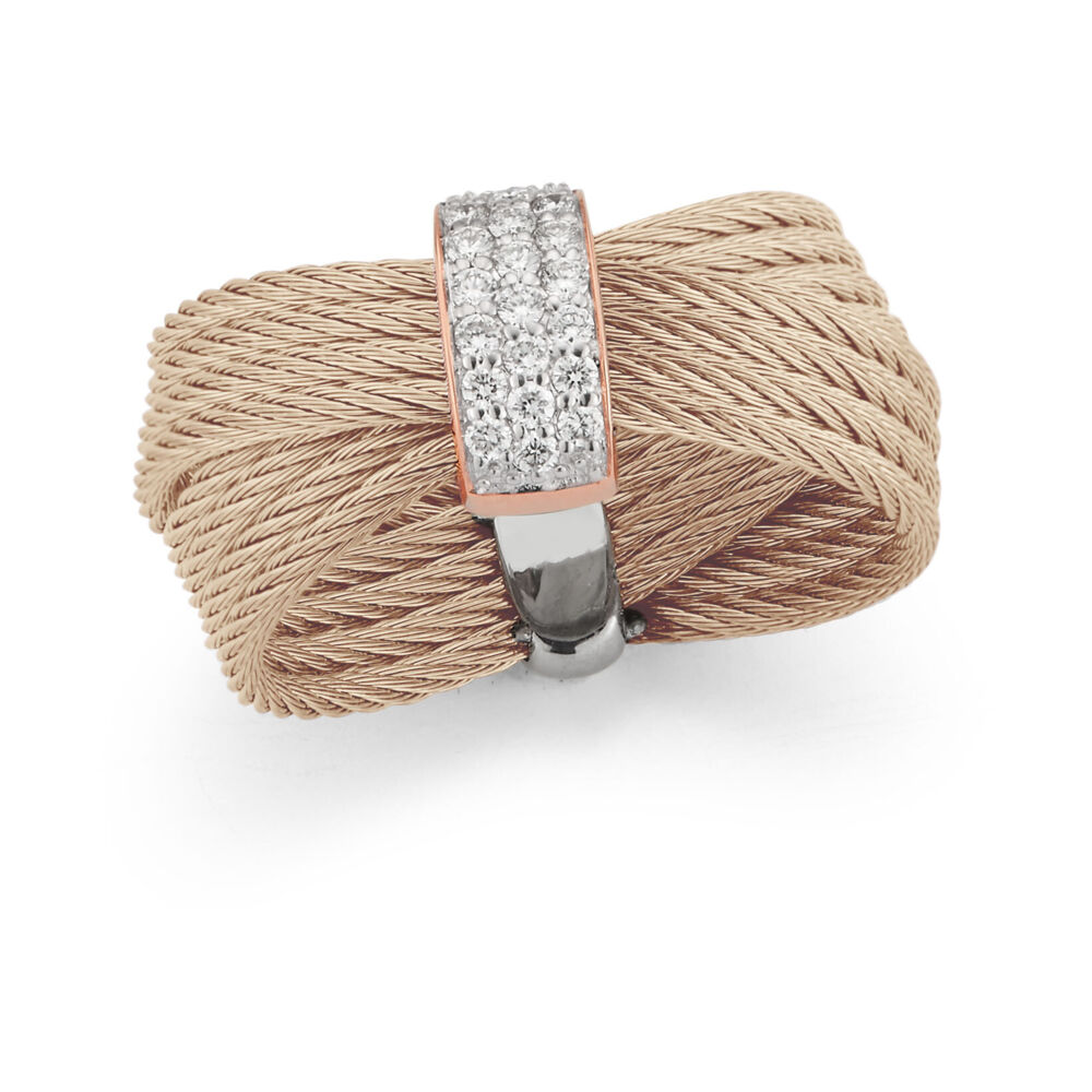 Image 2 for Carnation Crossed Multi-Cable Ring