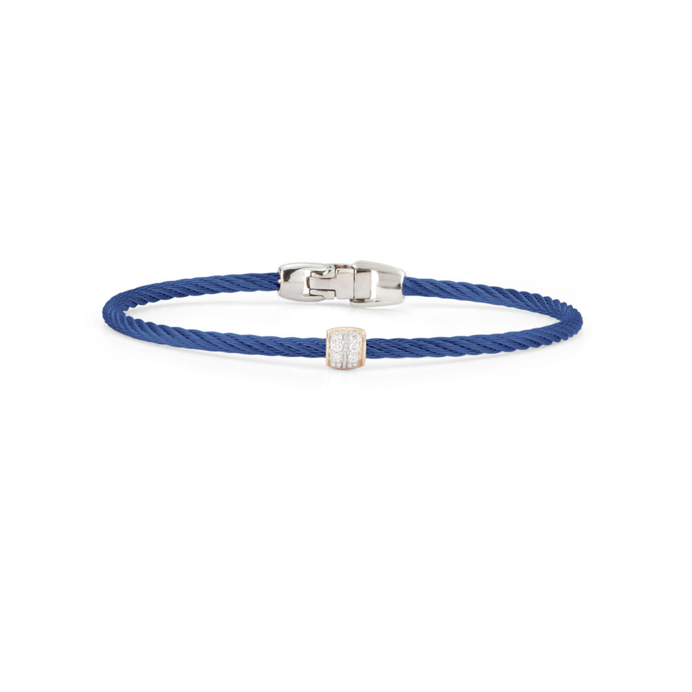 Image 2 for Blueberry Single Ovaled Station Bangle