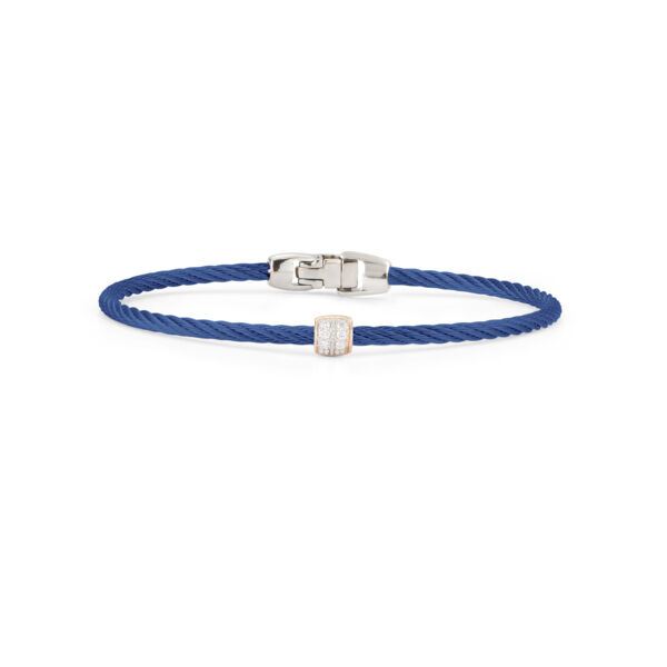 Closeup photo of Blueberry Single Ovaled Station Bangle
