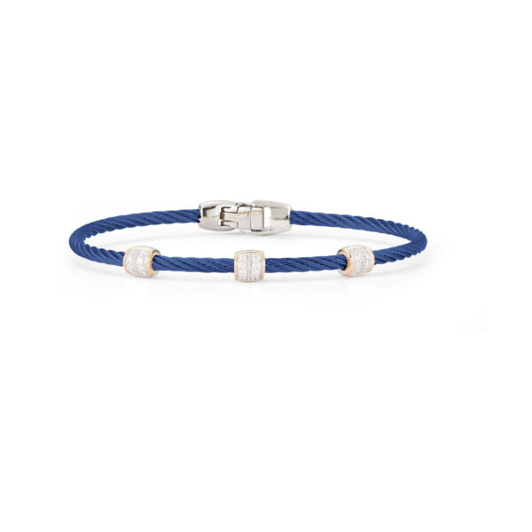 Closeup photo of Blueberry Three Ovaled Station Bangle