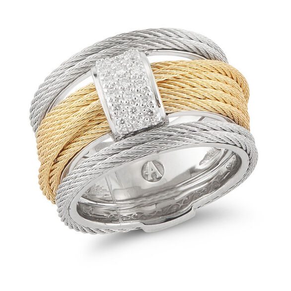 Image 2 for Two Tone Stacked Ring