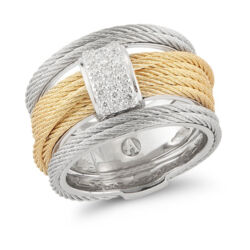 Closeup photo of Two Tone Stacked Ring