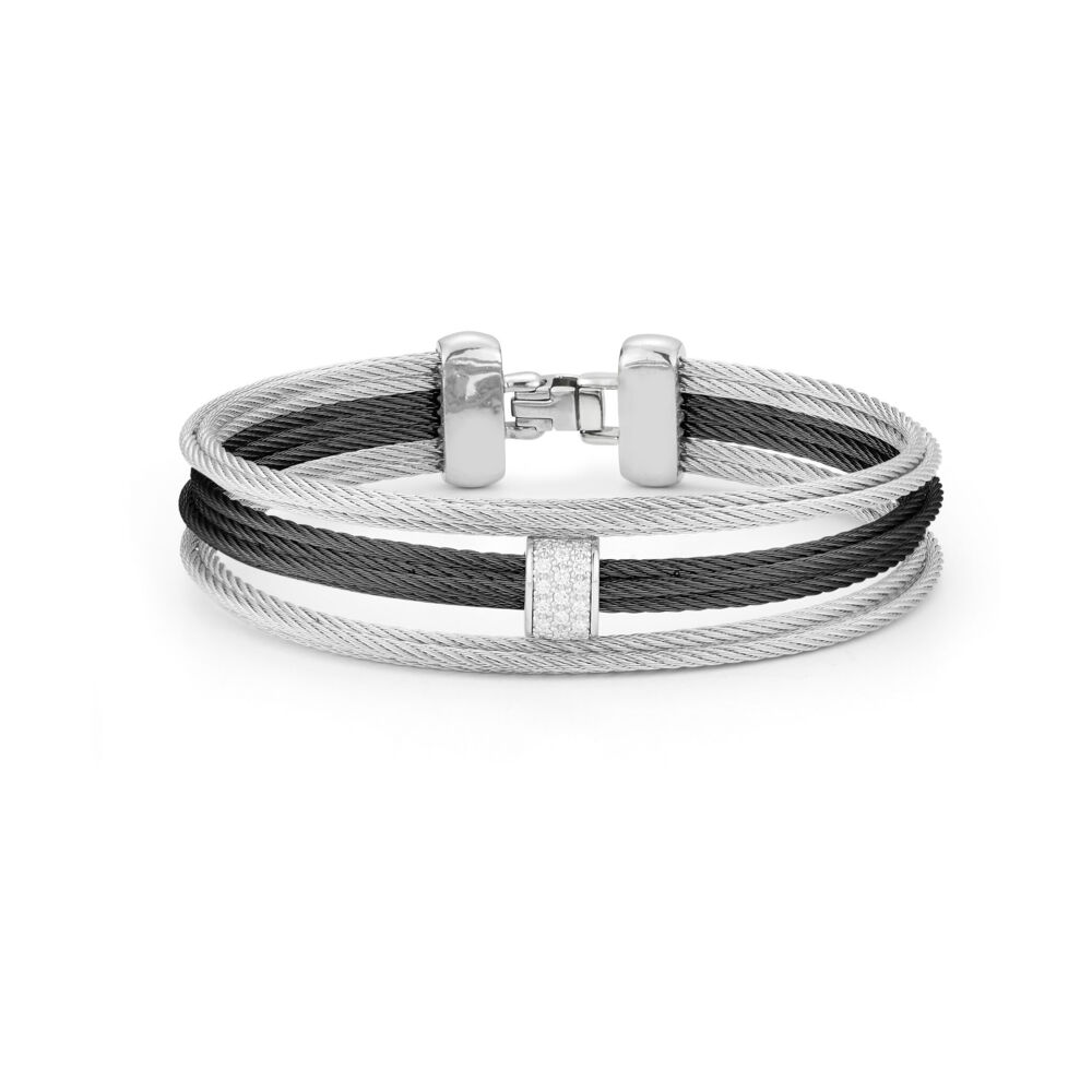 Image 2 for Two Tone Cable Bangle