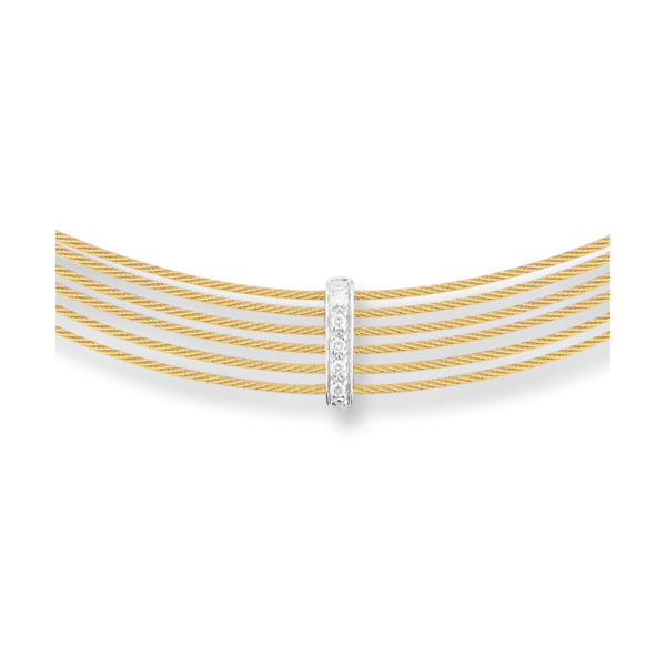 Closeup photo of Yellow Diamond Bar Choker