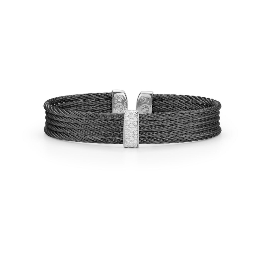 Image 2 for Noir Four Strand Layered Bangle