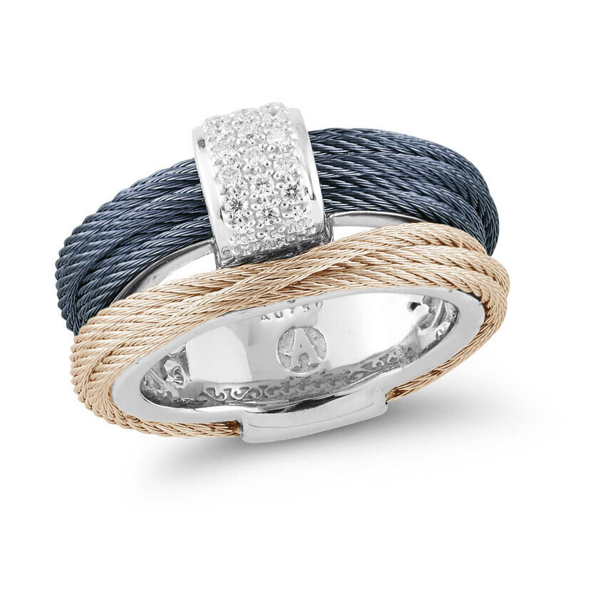 Image 2 for Two Tone Cable Stack Ring