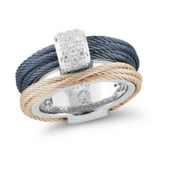 Closeup photo of Two Tone Cable Stack Ring