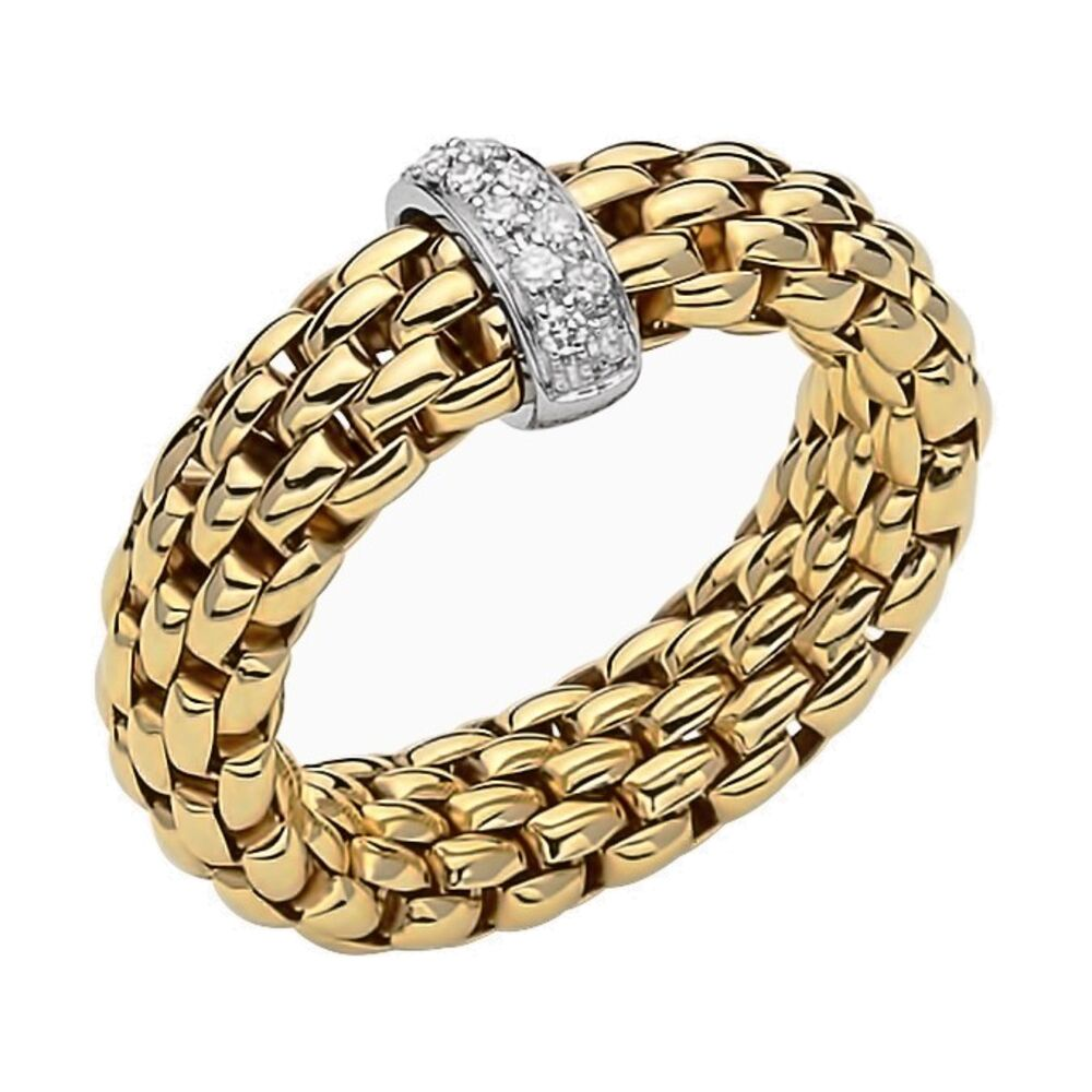 Fope Vendome Ring with Diamonds