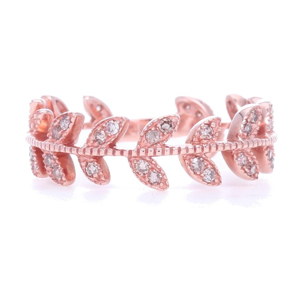 Image 2 for 14k Gold Vine Eternity Band/Stack Ring