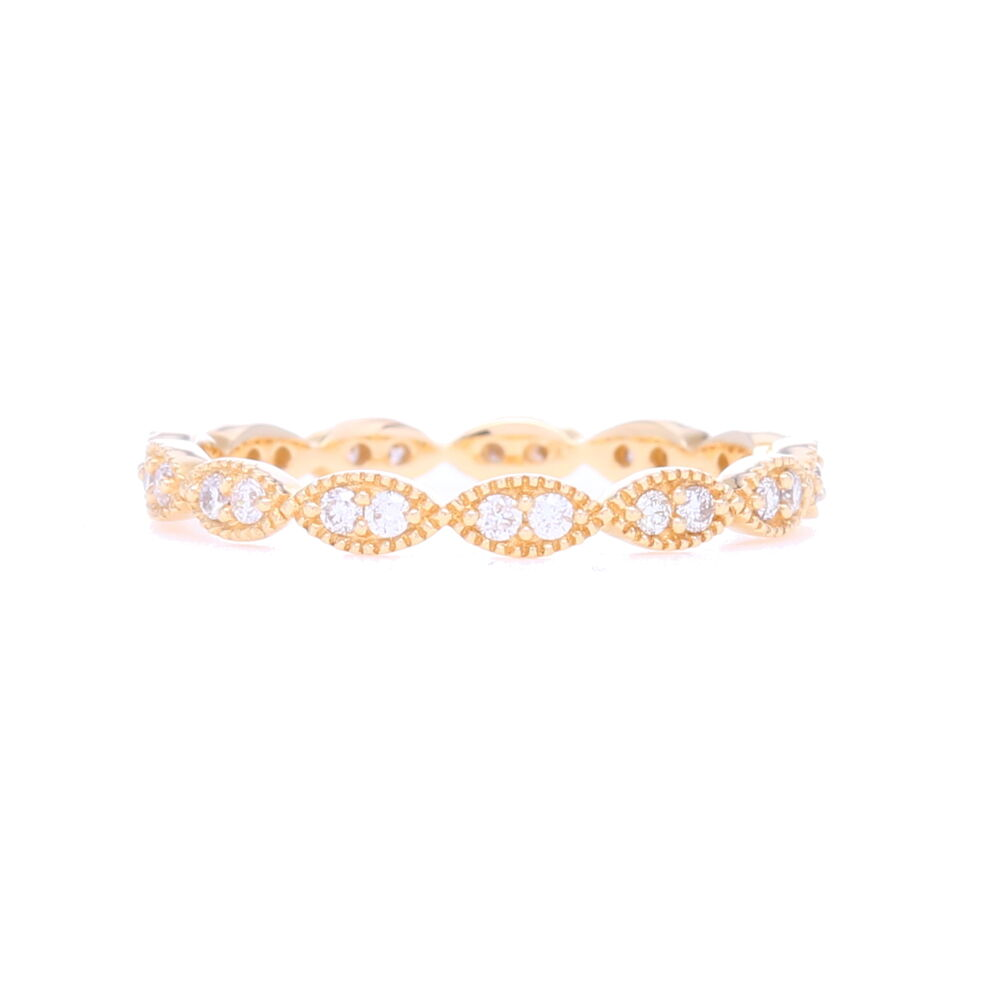 14k Yellow Gold Marquise Shaped Diamond Eternity Band