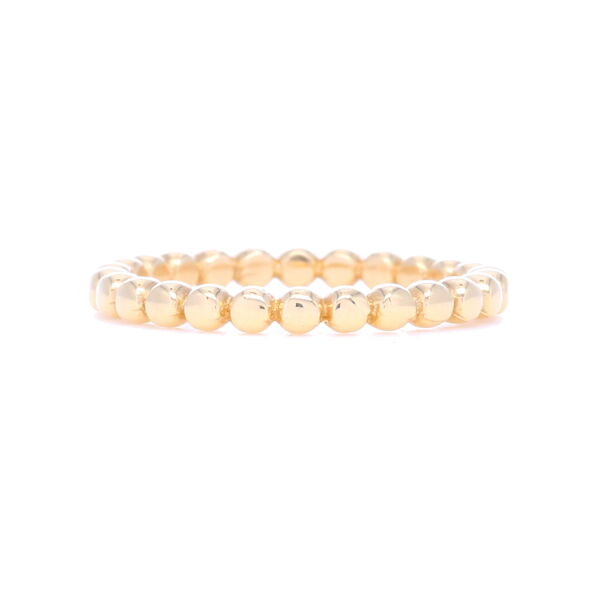 Closeup photo of 14k Gold Dot Ball Eternity Stack Ring