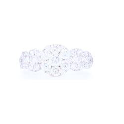 Closeup photo of 18k White Gold Circle Cluster Diamond Ring