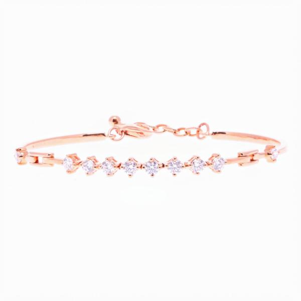 Closeup photo of 18k Rose Gold Diamond Bracelet