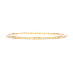 Closeup photo of 18k Yellow Gold Yellow Diamond Bangle