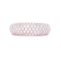 Closeup photo of 18k Rose Gold Pave Diamond Ring