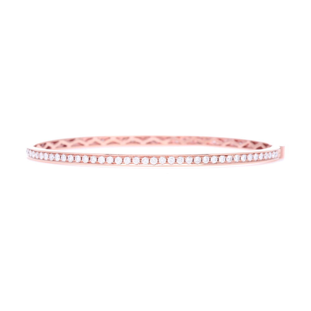Rose Gold Diamond Eternity Bracelet