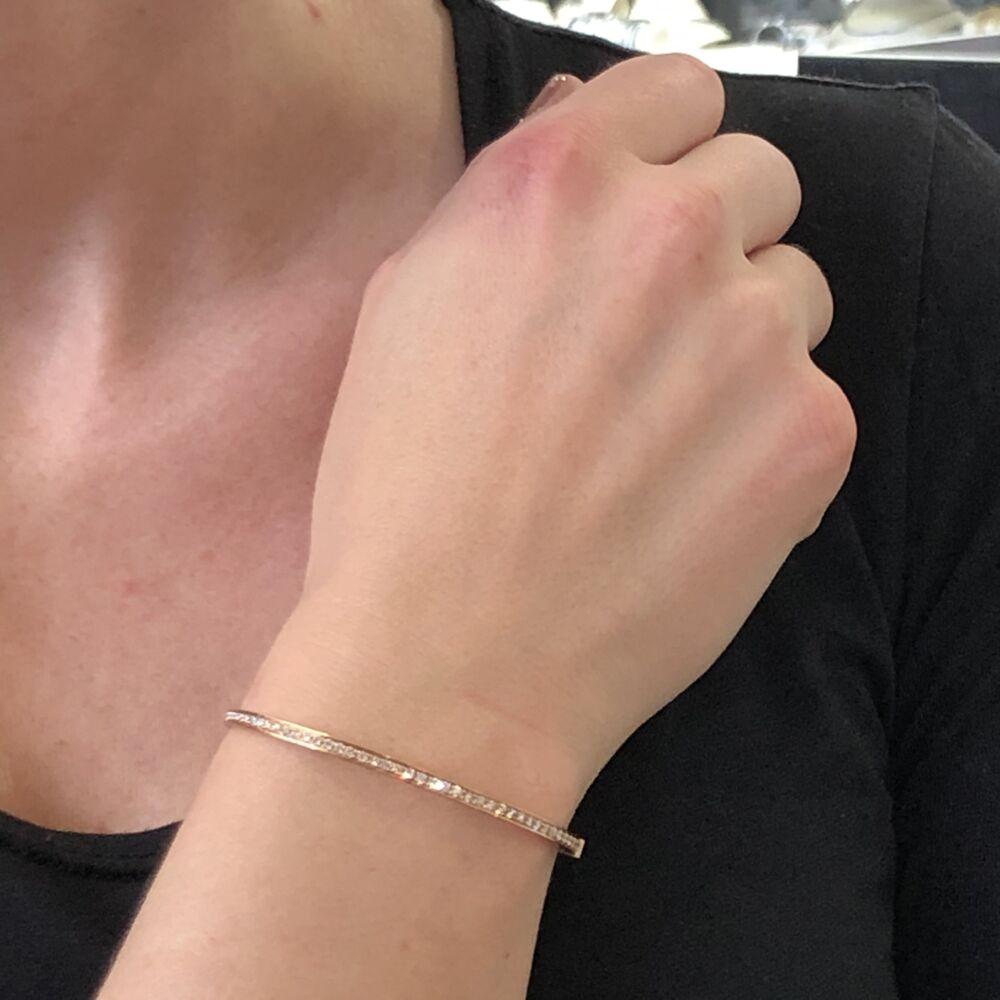 Image 2 for Rose Gold Diamond Eternity Bracelet