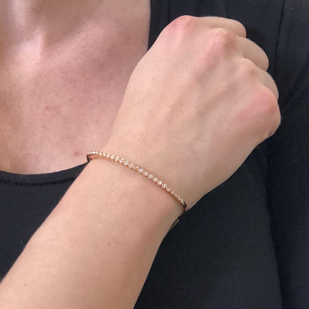 Image 2 for 18k Rose Gold Diamond Bezel Set Bracelet