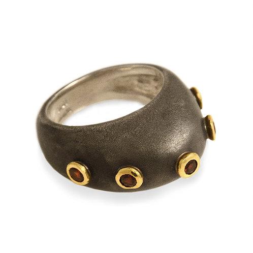 Djenne Garnet Studded Dome Ring