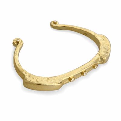 Closeup photo of 14k Primitive Bracelet with Diamonds