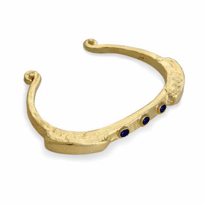 Closeup photo of 14k Primitive Bracelet with Sapphires