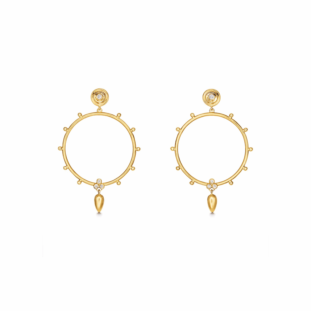 18K Circle Anfora Earrings