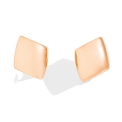 Closeup photo of 18k Rose Gold Vhernier Earclips