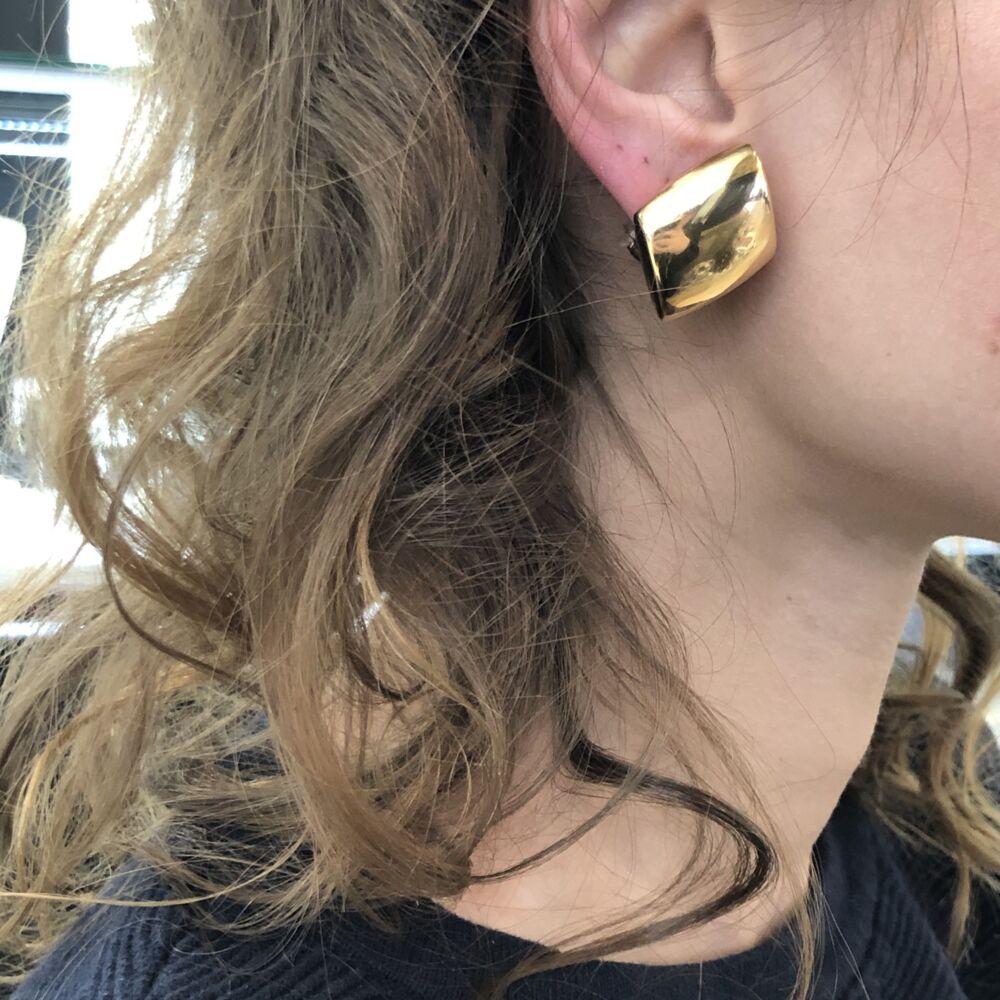 Image 2 for 18k Rose Gold Vhernier Earclips