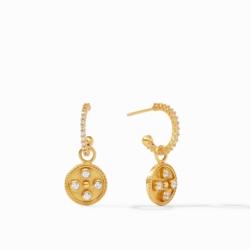 Closeup photo of Paris Hoop & Charm Earrings