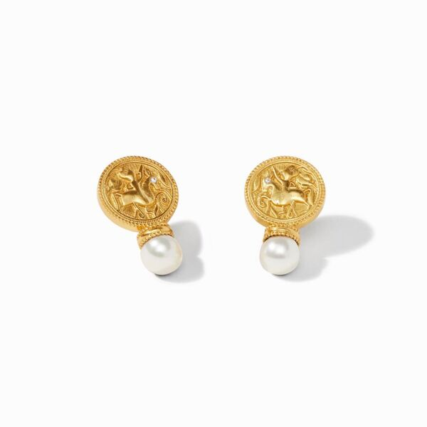 Closeup photo of Coin Earring