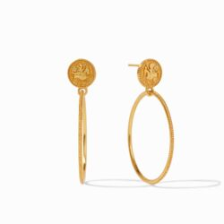 Closeup photo of Coin Statement Earring