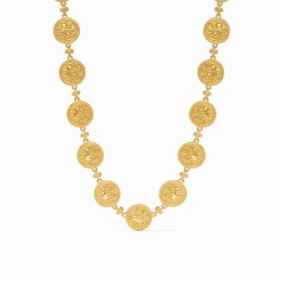 Closeup photo of Coin Statement Necklace