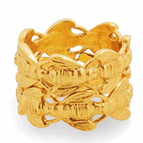 Closeup photo of Bee Stacking Ring