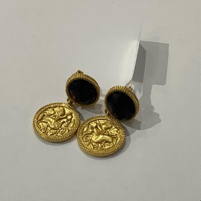 Coin midi earring gold