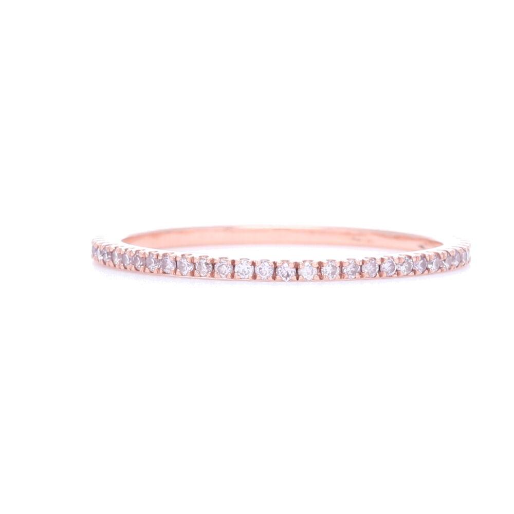 18k Rose Gold Pink Diamond Ring