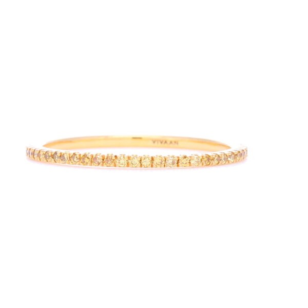 Closeup photo of Yellow Diamond Micro 18k Yellow Gold Stack Ring