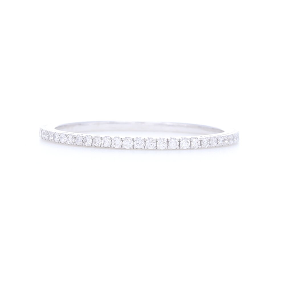 18k White Gold White Diamond Ring