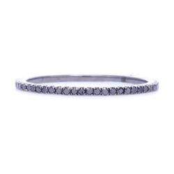 Closeup photo of Black Diamond Black Rhodium over 18k Gold Micro Diamond Eternity Stack Ring