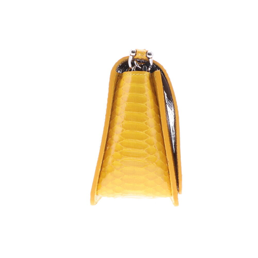 Image 2 for Electric Yellow Python Chain Bag