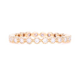 Closeup photo of 14K Yellow Gold Brilliant Cut Eternity Stack Ring