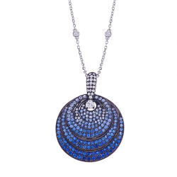 Closeup photo of Pave Three Layered Pendant