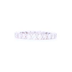 Closeup photo of 18k Gold Shared Prong Brilliant Cut Diamond Eternity Ring