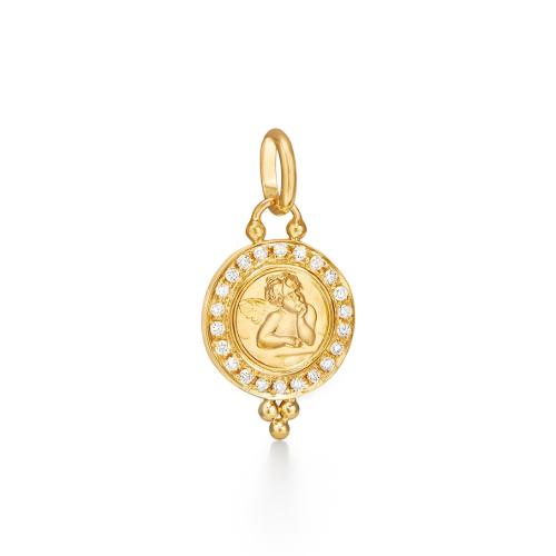 Closeup photo of Angel Pendant with Diamonds