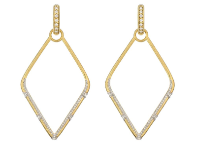 Closeup photo of  LISSE LARGE SIMPLE KITE EARRING CHARM FRAMES