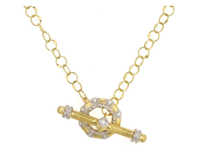 Closeup photo of  LISSE UPTOWN OPEN OCTAGONAL TOGGLE CHAIN