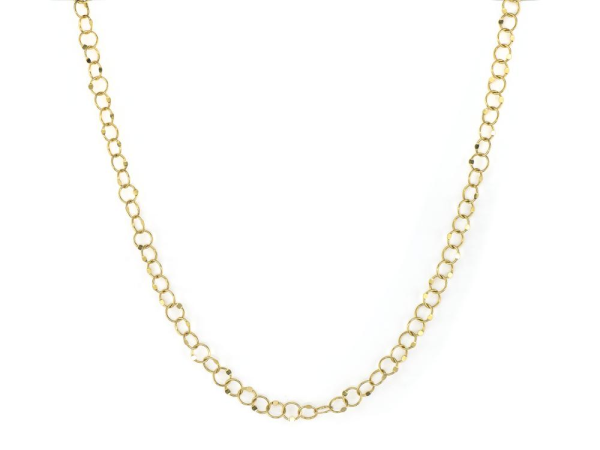Closeup photo of  LARGE HAMMERED CIRCLE CHAIN 24""