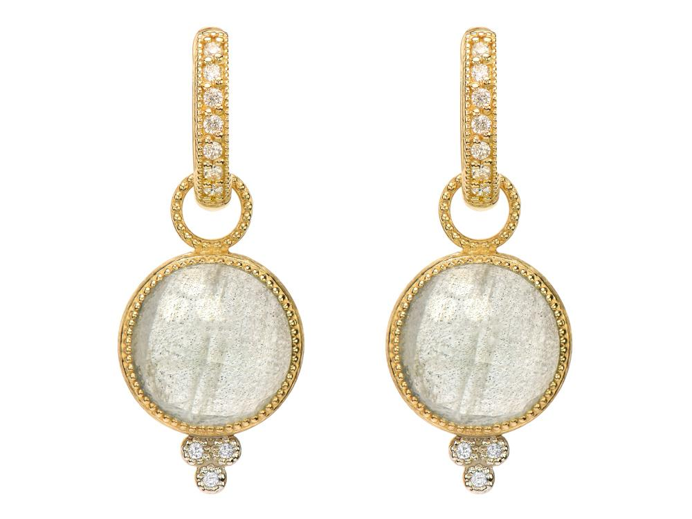 Provence Round Stone Earring Charms in Labadorite
