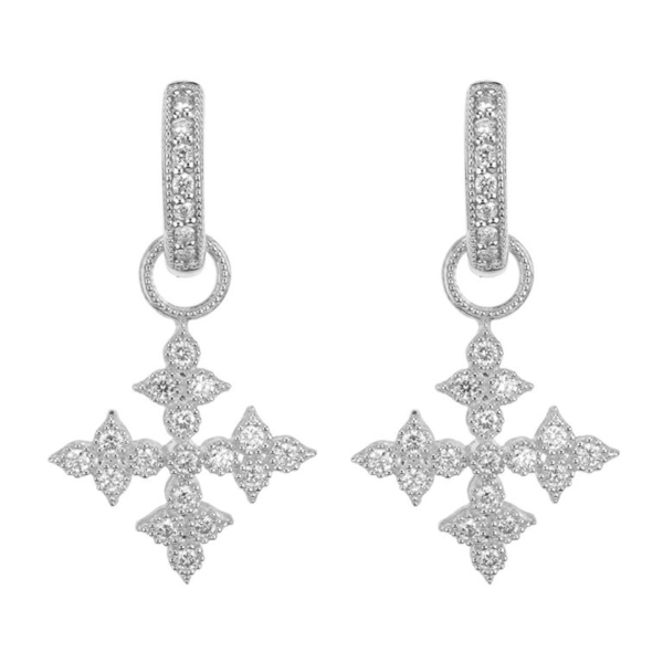 Closeup photo of Moroccan Quad Maltese Cross Earring Charms