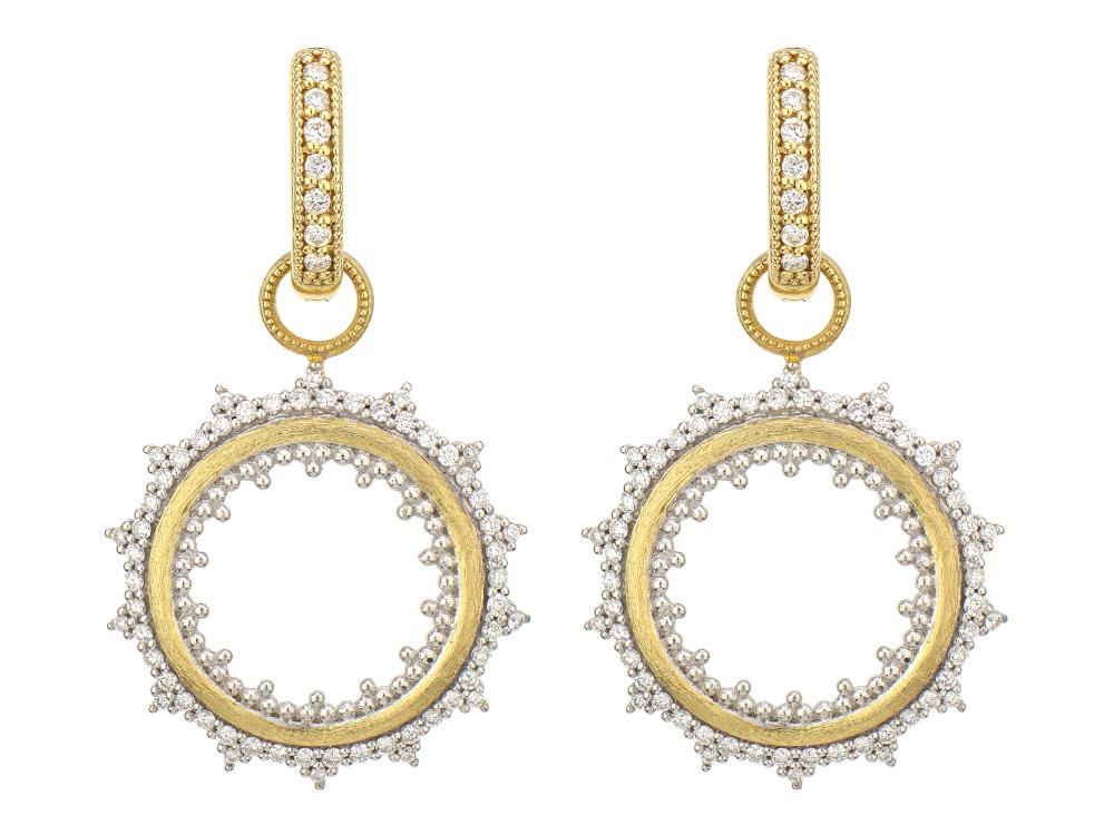 Provence Open Sunburst Diamond Earring Charms