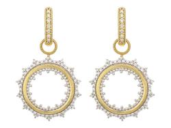 Closeup photo of Provence Open Sunburst Diamond Earring Charms